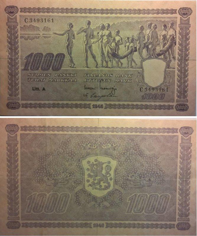 1000 марок 1945