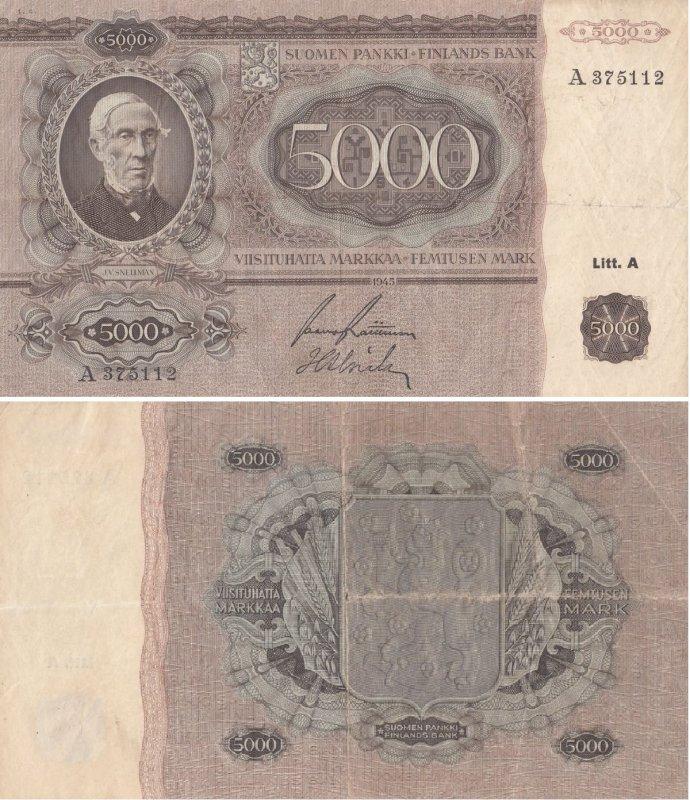 5000 марок 1945
