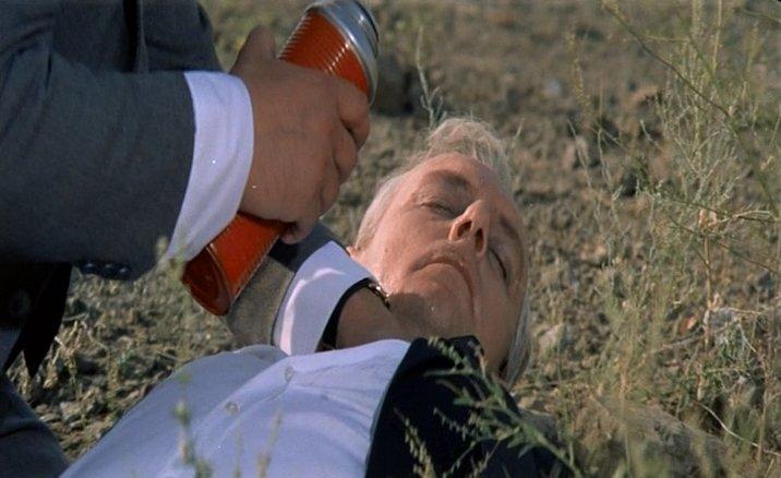 Кадр из х/ф «Укрощение огня», 1972. Смерть главного героя