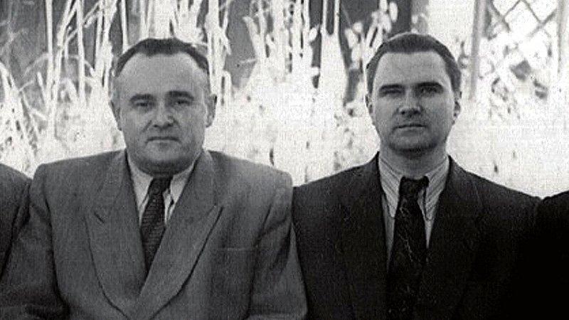 Сергей Королев и Валентин Глушко. Байконур, 1957 г.