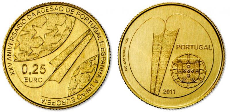 0,25 евро Португалии