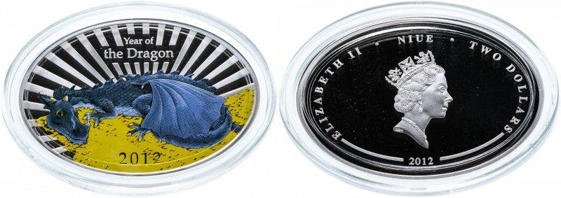 Монета Ниуэ овальной формы