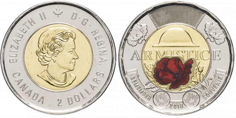 2 канадских доллара (2018)