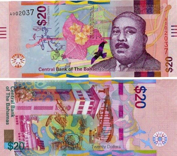 20 долларов 2018 года, Багамские острова