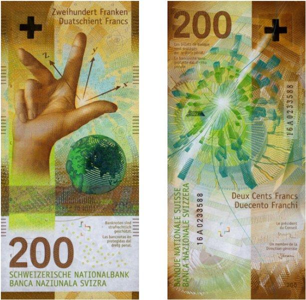 200 швейцарских франков 2018 года