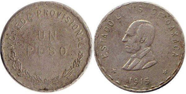 1 песо 1915 г., Оахака