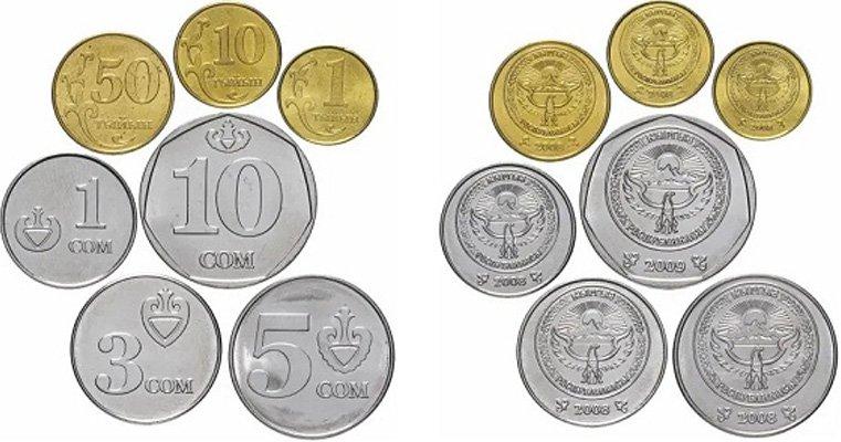 Циркуляционные монеты Киргизии, эмиссия 2008-2009 гг.