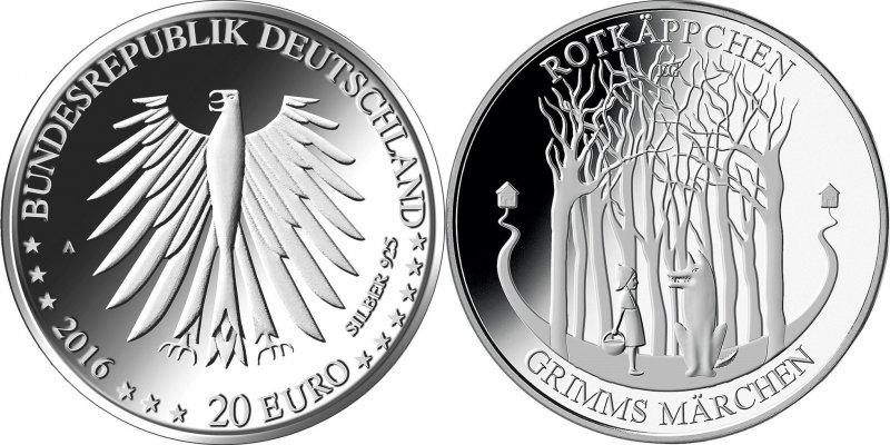 20 евро «Красная Шапочка», Германия