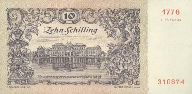 Реверс: дворец Бельведер в Вене