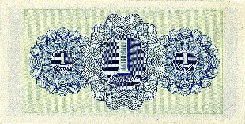 1 шиллинг. Выпуск май 1945- декабрь 1947 гг.