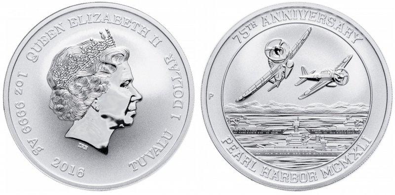 Серебряный доллар Тувалу (Перт, Австралия)