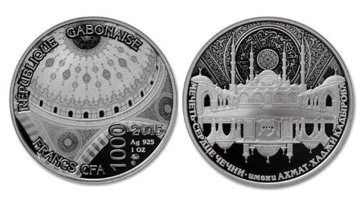 Габон 1000 франков 2015 г. Мечеть «Сердце Чечни»