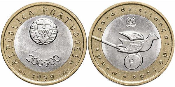 Португалия, 200 эскудо 1999 года «ЮНИСЕФ»