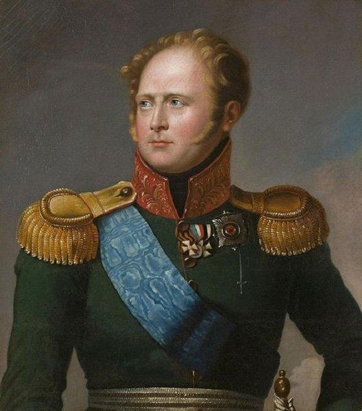 Александр I, император и самодержец Всероссийский. Портрет неизвестного художника. Первая четверть XIX века