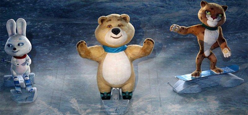 Талисманы на олимпийской площадке