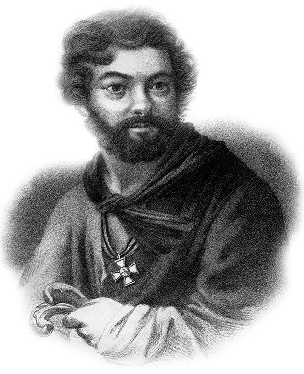 Портрет Дениса Давыдова с бородой