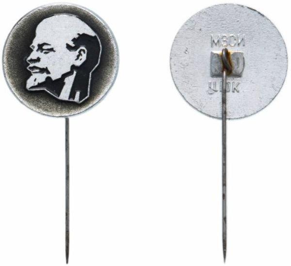 Значок круглый, СССР 1969 год, Ленин, круглый, иголка