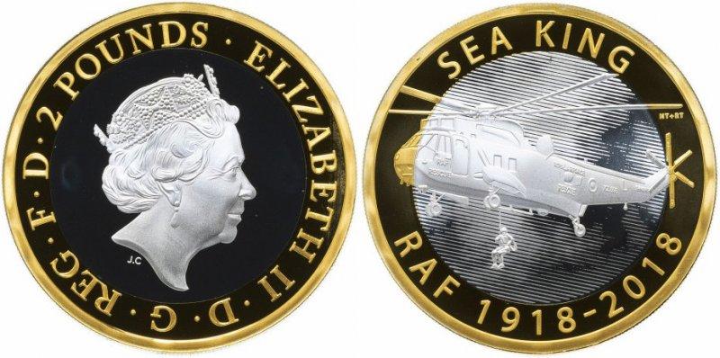 Королева Великобритании Елизавета II на аверсе