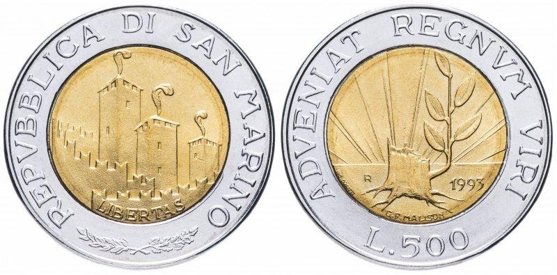 Сан-Марино, 500 лир 1993 года «Росток»