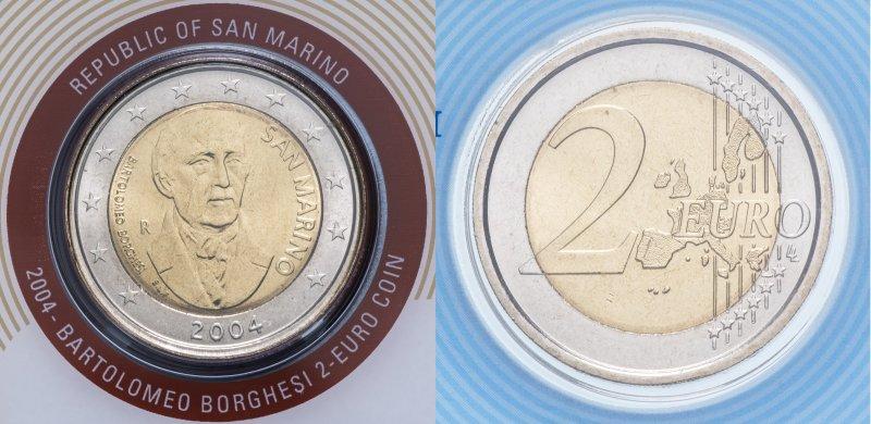 Сан-Марино, 2 евро 2004 года «Бартоломео Боргези»