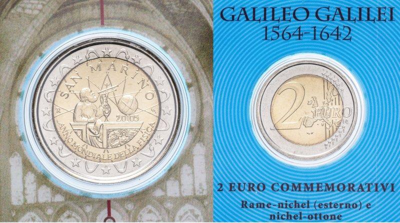 Сан-Марино, 2 евро 2005 года «Год физики»