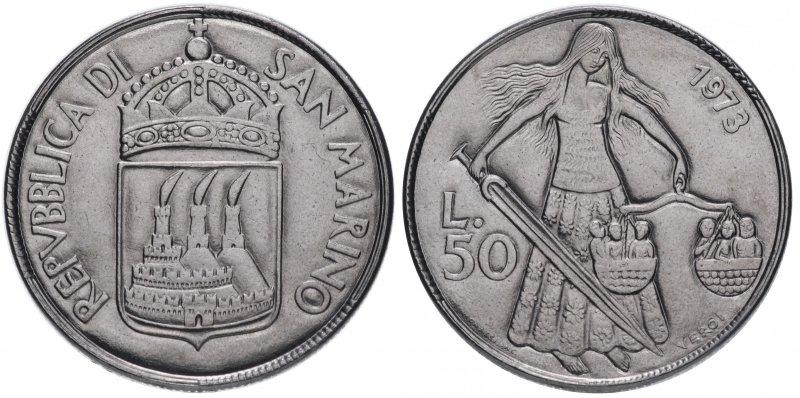 Сан-Марино, 50 лир 1973 года