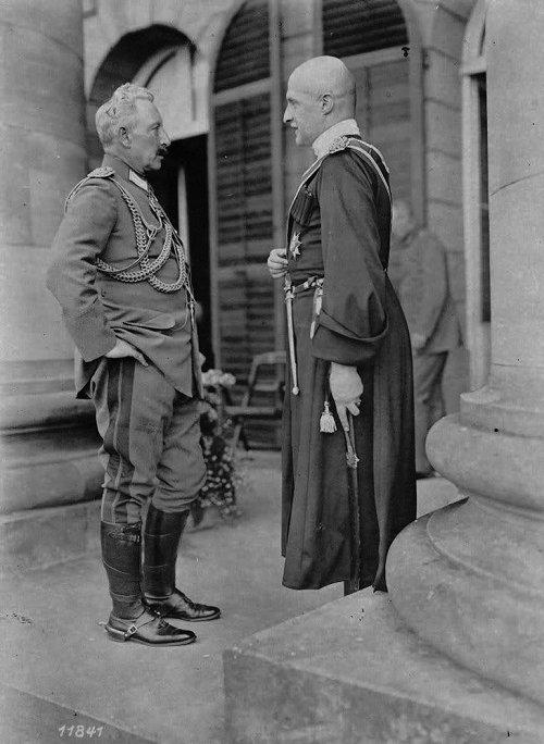 Встреча гетмана Скоропадского и кайзера Вильгельма II, август 1918 года