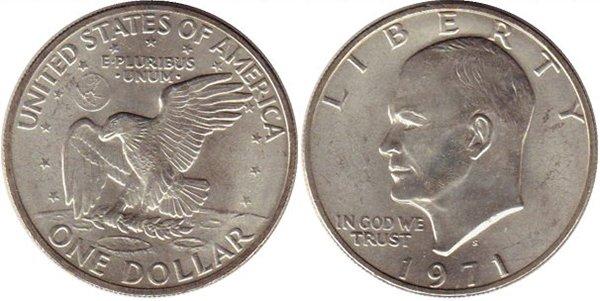 Лунный доллар 1971 г.
