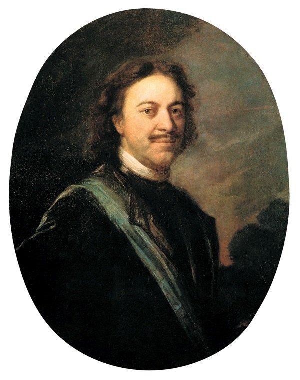 Император Петр I. Портрет работы Андрея Матвеева. 1724-1725 гг.