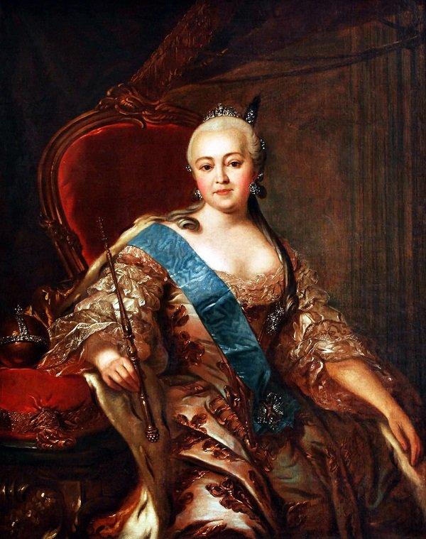 Императрица Елизавета Петровна. Картина неизвестного художника середины XVIII века