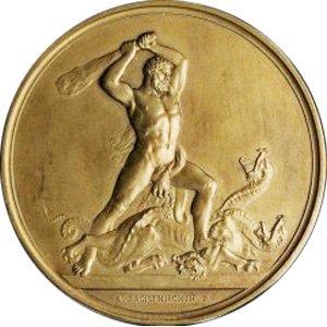Медаль, послужившая прообразом монеты