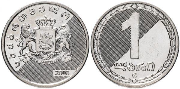 1 лари, Грузия, 2006 год