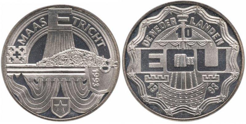 10 ЭКЮ (сувенирная монета)