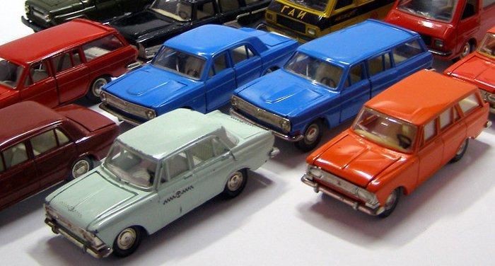 Советские металлические модели автомобилей