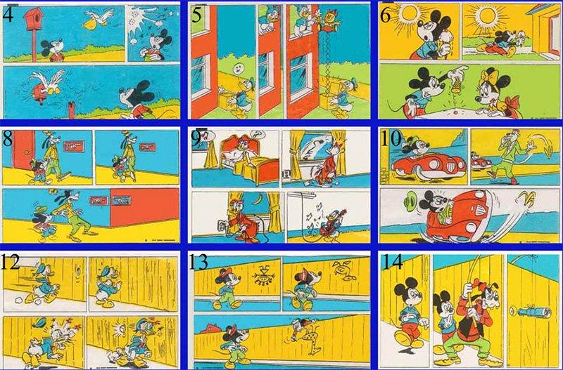 Мини-комиксы на вкладышах классической серии Donald Duck