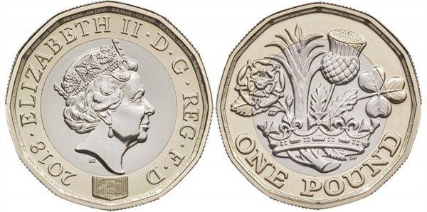 1 фунт, Великобритания, 2018 год