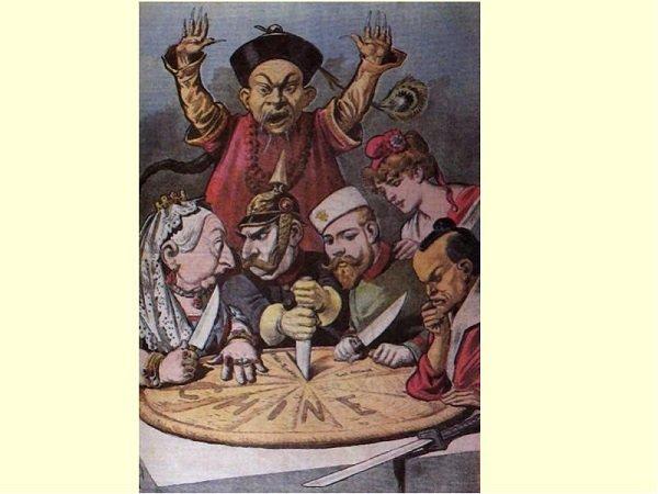 Раздел китайского пирога. Карикатура конца XIX века