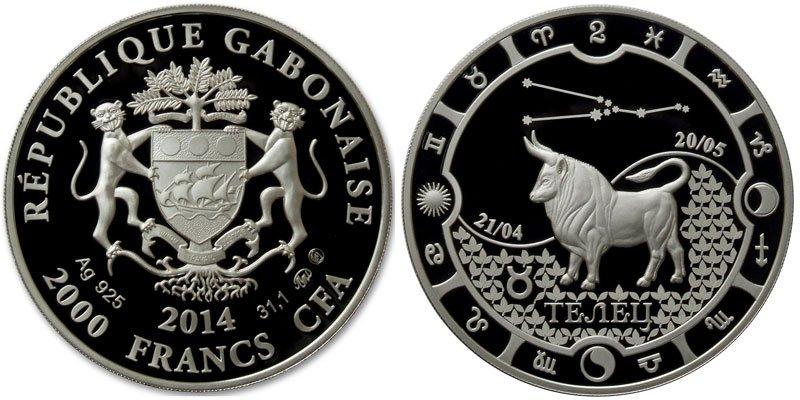 2000 франков, Габон, 2014 год