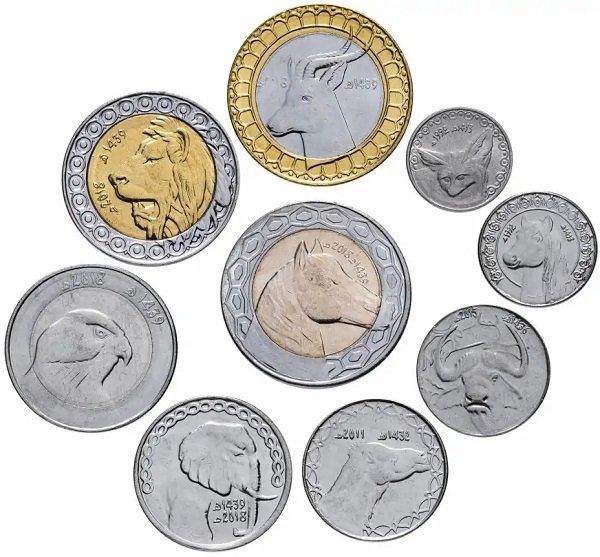 Монеты Алжира 1992-2018 гг., оборотная сторона
