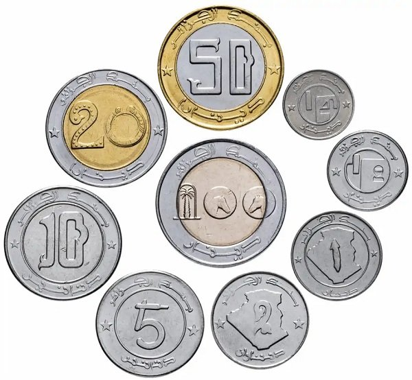 Монеты Алжира 1992-2018 гг., лицевая сторона