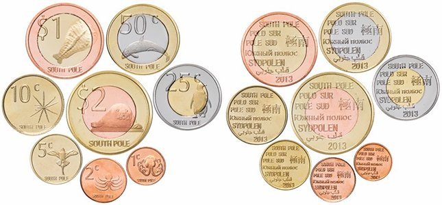 Набор монет «Антарктида (Южный полюс)», 2013 год