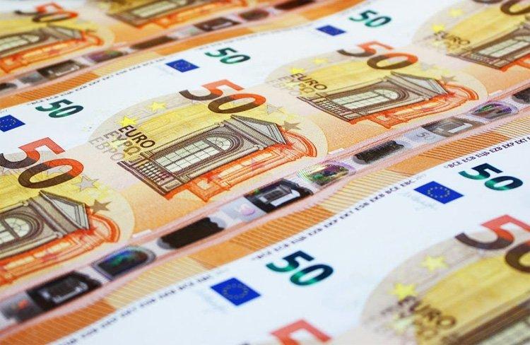 Банкноты 50 евро нового образца