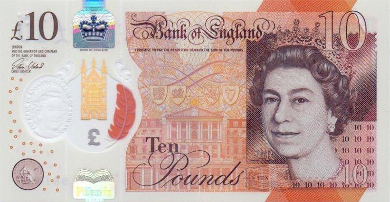 10 фунтов стерлингов Великобритании