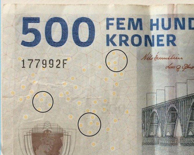 """Фрагмент банкноты с тремя выделенными """"Созвездиями Эвриона"""""""