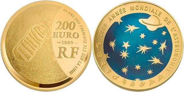 Монета номиналом 200 евро. Франция, 2009 г.