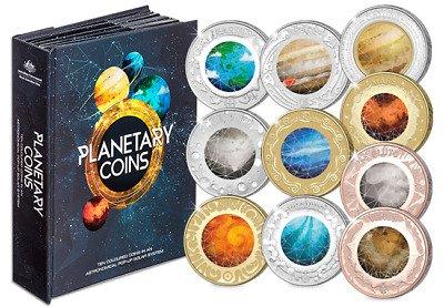 Коллекционный набор монет «Планеты». Австралия, 2017 г.