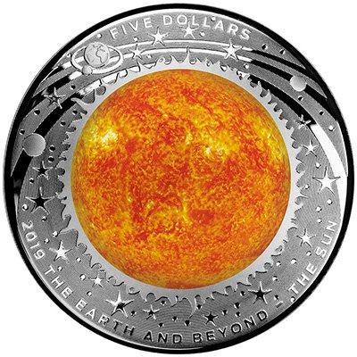 5 долларов «Земля и за ее пределами. Солнце», Австралия, 2019 г.