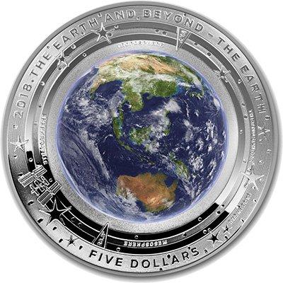 5 долларов «Земля и за ее пределами. Земля», Австралия, 2018 г.