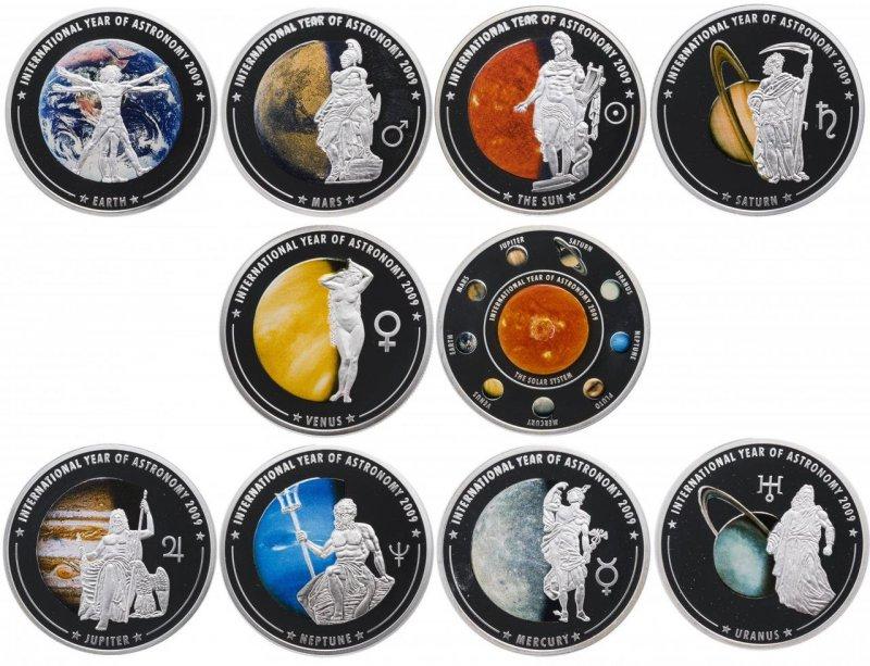 Набор монет номиналом 1 доллар. Острова Кука, 2009 г.