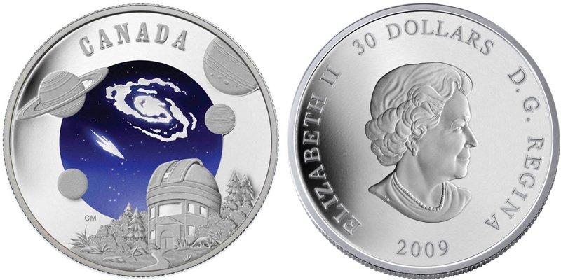 Монета номиналом 30 долларов Канада, 2009 г.